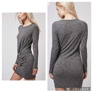 Topshop Front Knot Tunic Jersey Bodycon Dress - 4